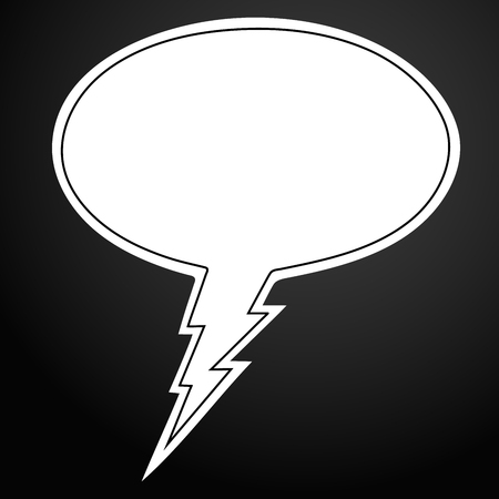 Comic bubble speech icon in outline style vector illustration for design and web.