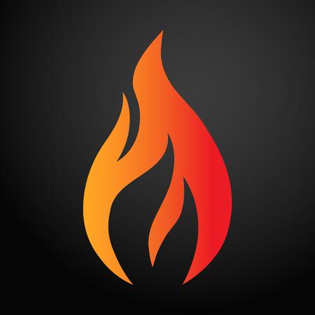 Feuer-Logo. Rotes, gelbes Feuer. Symbolillustration für Design - Vektor.