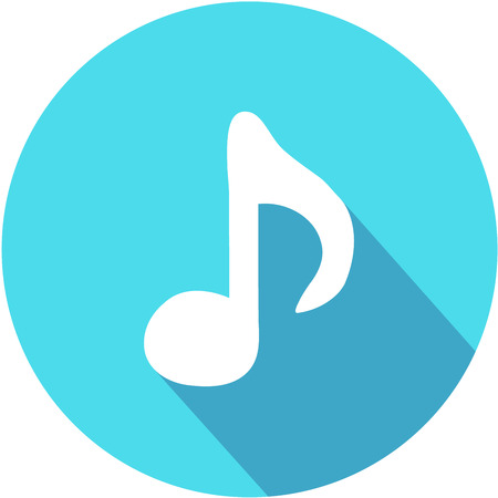 Music note icon - Vector. Flat design style eps 10 Ilustrace