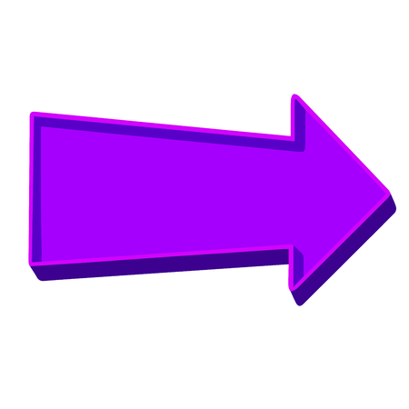 Purple arrow pointing right on a white background.