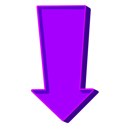Purple arrow pointing down on a white background.