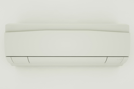 Air conditioner isolated on white background, front view. 3d illustration Фото со стока - 121873871
