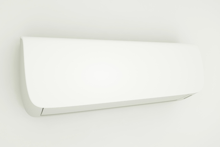 Modern air conditioner on a white background. 3d illustration Фото со стока - 121873876