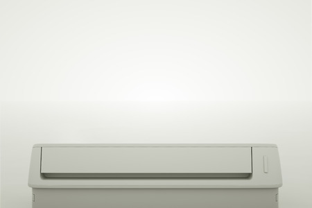 Bottom view of the modern air conditioner. 3d illustration