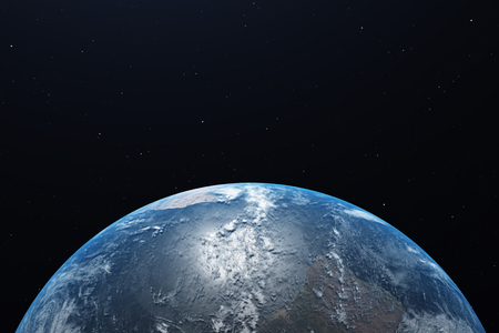 Ultra Realistic Earth from Space 3d illustration 写真素材 - 121873806