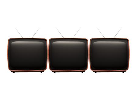 Retro tv isolated on white background. 3D Illustration.