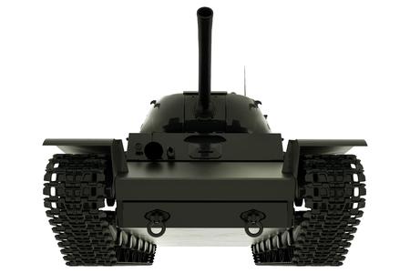 Military Tank Isolated On White Background. 3D rendering. Reklamní fotografie