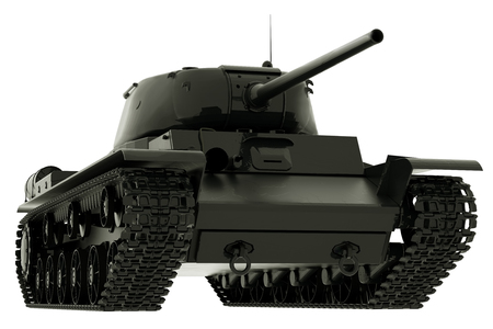 World War II Tank Isolated on White Background. 3D Rendering. Imagens