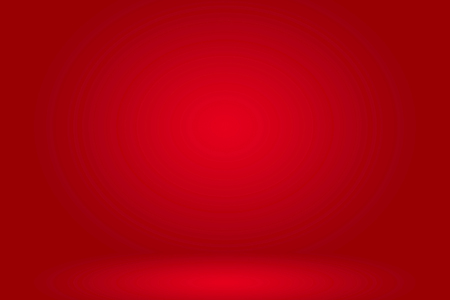 Abstract red light empty room studio background for presentation with red gradient color.