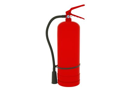 Fire extinguisher isolated on white background. 3d illustration. Stok Fotoğraf