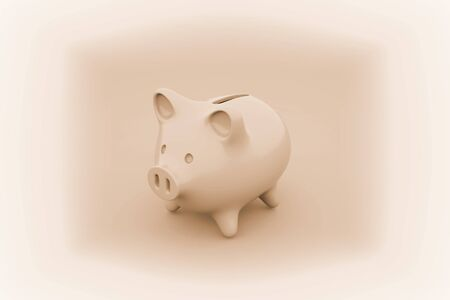 Piggy bank. 3D illustration.