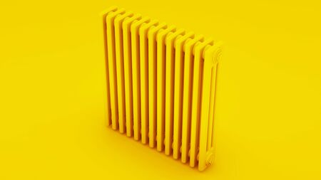 Cast iron heating radiator. 3D illustration.