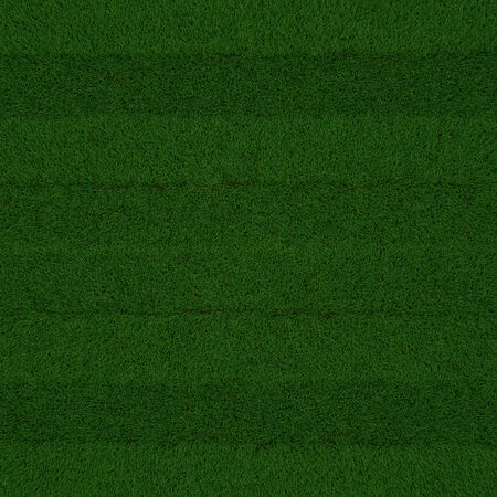 Square shaped green grass lawn, 3D illustration.