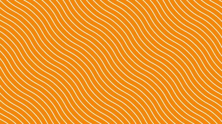 White curved lines in dynamic wave motion, orange background. Future geometric diagonal lines patterns motion background. 3d illustration.