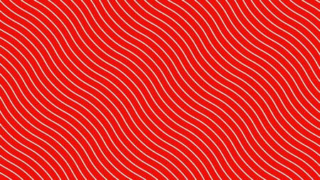 White curved lines in dynamic wave motion, red background. Future geometric diagonal lines patterns motion background. 3d illustration.