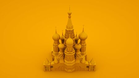 Moscow symbol - Saint Basils Cathedral, Russia. 3d illustration. Reklamní fotografie
