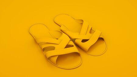 Flip flops. Summer concept. 3d illustration.
