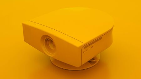Multimedia Projector. Minimal idea concept. 3d illustration