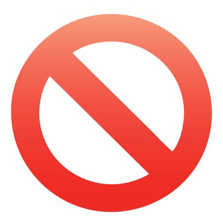 Red, simple, clean stop, cancel, block, no, stoppage, quit, remove, delete, take away, cancelled icon, design element for all boards.