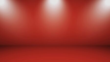 Red Gradient abstract background. Red template background. Red empty room studio gradient used for background. Banque d'images