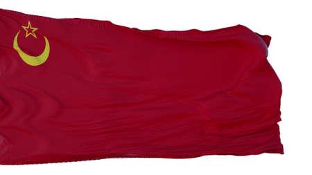 Union Of Islamic Soviet Republics Flag isolated on white background. 3d illustration
