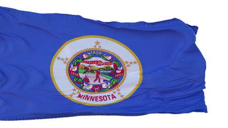 Minnesota Flag isolated on white background. 3d illustration