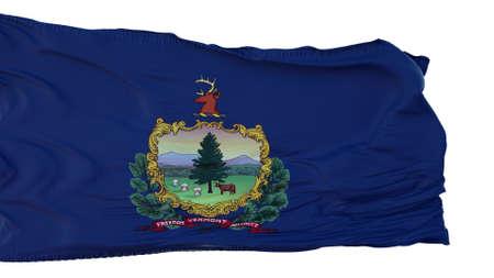Vermont Flag isolated on white background. 3d illustration Foto de archivo