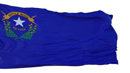 Nevada Flag isolated on white background. 3d illustration