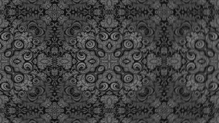 Abstract ornate decorative background. Hypnotic trendy kaleidoscope. 3d rendering