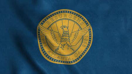 Flag of Atlanta city, Georgia, United States of America. 3d illustration Stok Fotoğraf - 167720145