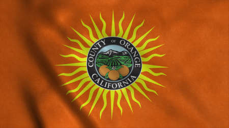 Orange county flag, state of California, United States of America. 3d illustration