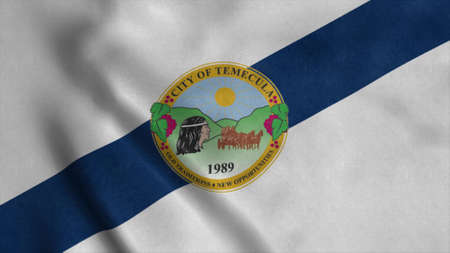Flag of Temecula, city of California, United States of America. 3d illustration 版權商用圖片