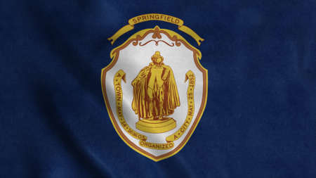 Springfield flag, city of Massachusetts, United States of America. 3d illustration Stok Fotoğraf - 167720250