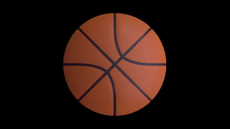 Basketball ball on a black background. Object for your project. 3d rendering