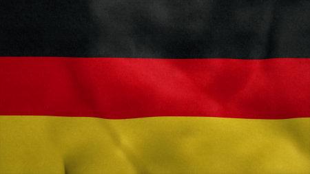 National flag of German blowing in the wind. 3d rendering