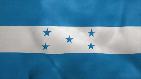 National flag of Honduras blowing in the wind. 3d rendering Stok Fotoğraf