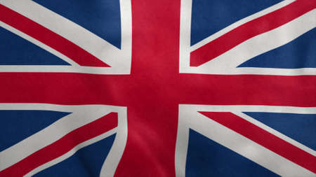National flag of United Kingdom blowing in the wind. 3d rendering