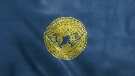 Flag of Atlanta city, Georgia, United States of America. 3d illustration. Stok Fotoğraf - 167474304