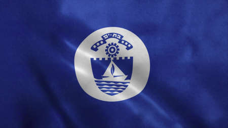 Bat Yam flag, city of Israel. 3d illustration. 版權商用圖片