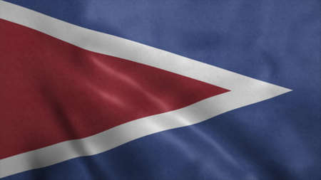 Cabo Rojo flag, city of Puerto Rico. 3d illustration. Stok Fotoğraf - 167474318