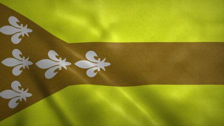 Dorado flag, city of Puerto Rico. 3d illustration.