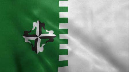Guaynabo flag, city of Puerto Rico. 3d illustration.