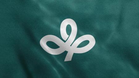Flag of Miyagi Prefecture, Japan. 3d illustration. 版權商用圖片