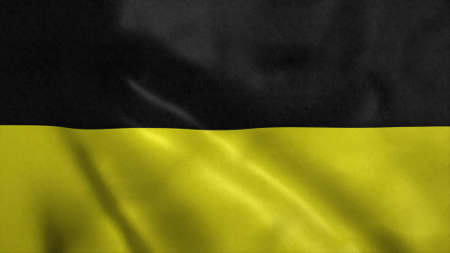 Munich flag, city of Germany. 3d illustration.