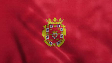 Murcia flag, city of Spain. 3d illustration. Stok Fotoğraf - 167474574