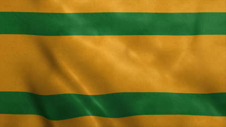 Naranjito flag, city of Puerto Rico. 3d illustration. Stok Fotoğraf - 167474623