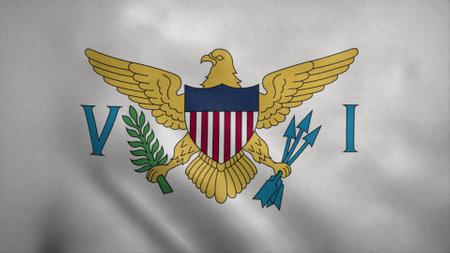 Virgin Islands flag waving in the wind. 3d illustration. Stok Fotoğraf - 167334521