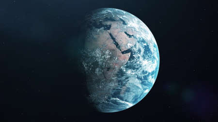 Photo realistic 3d earth. Earth from space. 3d rendering