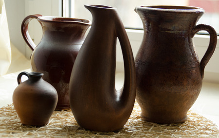 Jugs of different shapes and size