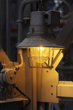 fireproof: led fireproof street industrial lantern close up